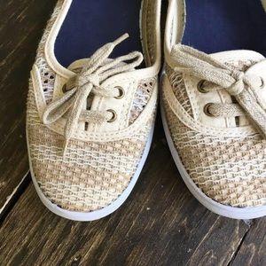 Keds slip on Shoes Cream Beige Size 7.5